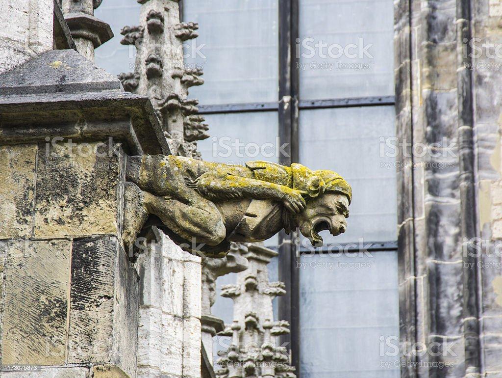 Gargoyle Gothic Dom Church Utrecht 8 royalty-free stock photo