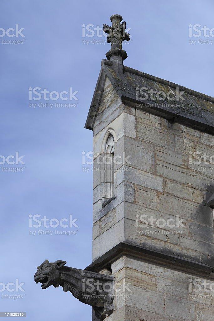 Gargoyle in Notre-Dame de Beaune, France royalty-free stock photo