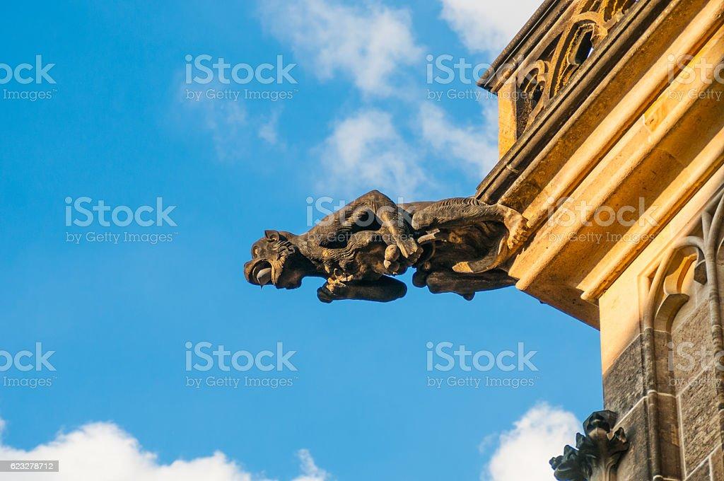 Gargoyle of St. Vitus Cathedral in Prague, Czech Republic stock photo