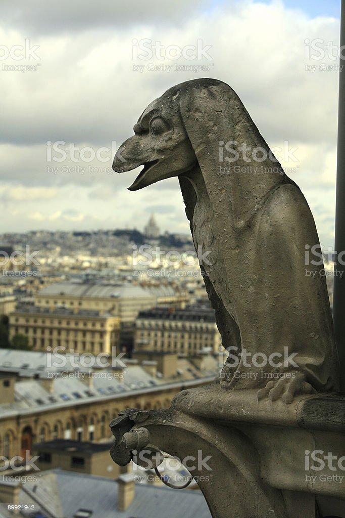 Gargoyle, Paris royalty-free stock photo