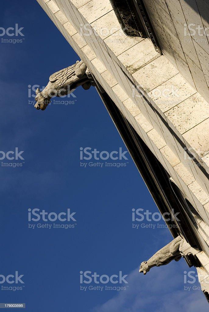 Gargoyles of Basilique du Sacre Coeur , Paris (France) royalty-free stock photo