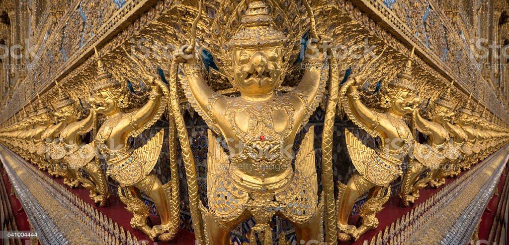 Gargoyles, Royal Palace, Bangkok stock photo