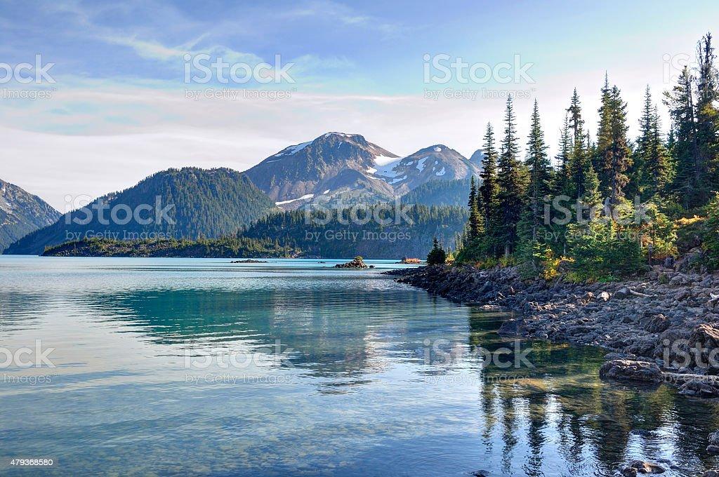 Garibaldi Lake, British Columbia stock photo