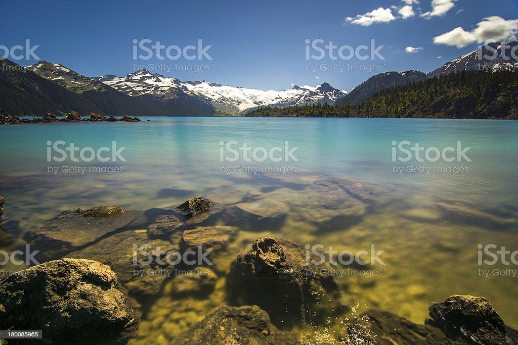 Garibaldi Lake in British Columbia, Canada stock photo