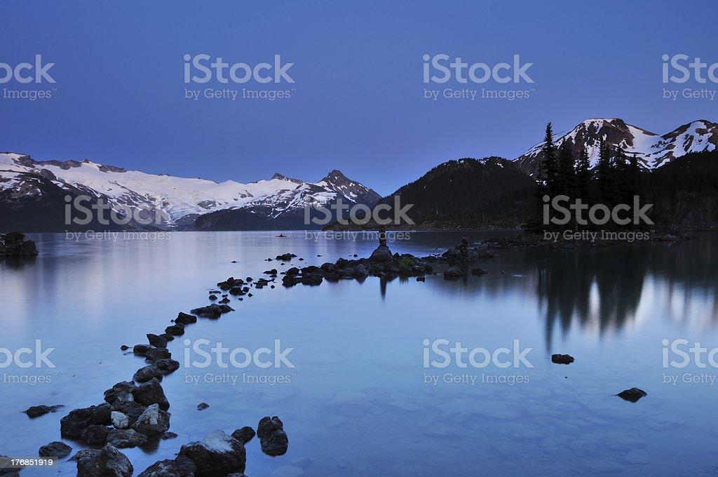 Garibaldi Lake in Twilight stock photo
