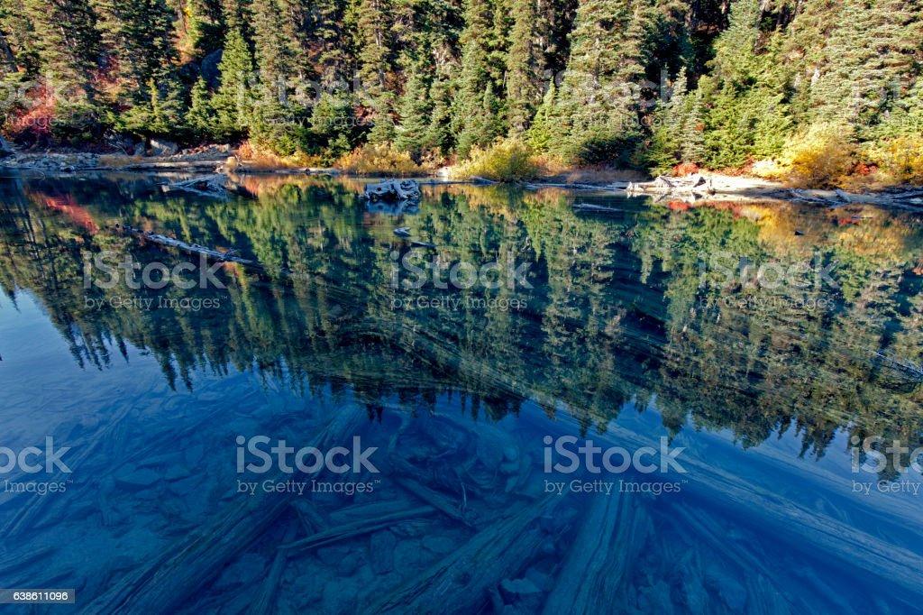 Garibaldi Lake reflection in summer,Vancouver stock photo