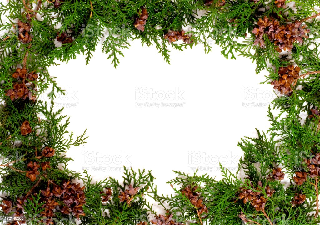 garland frame royalty-free stock photo