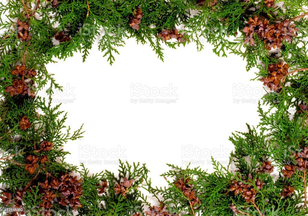 garland frame royalty-free stock photo