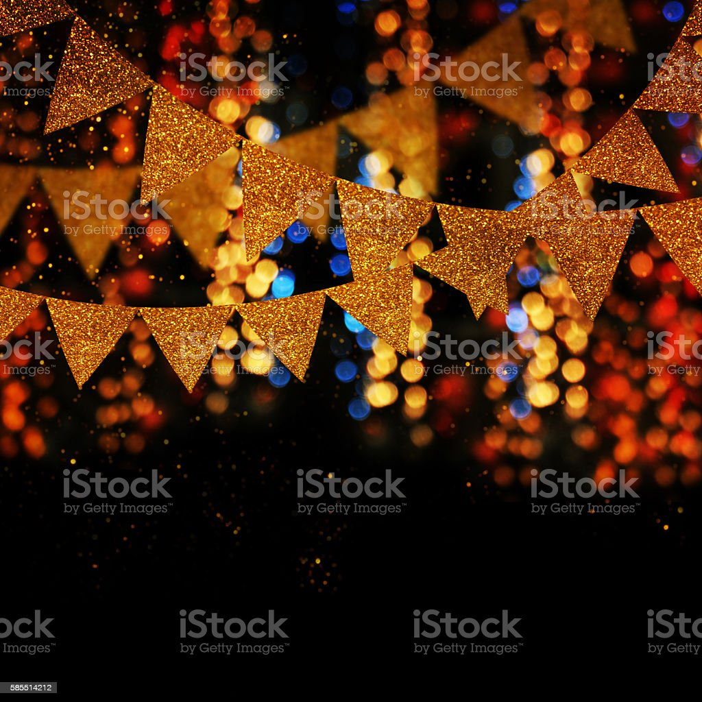 Garland Party background stock photo