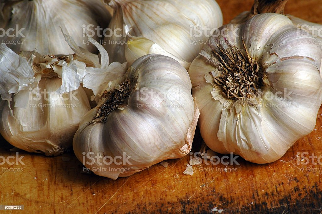 garlic 3 stock photo