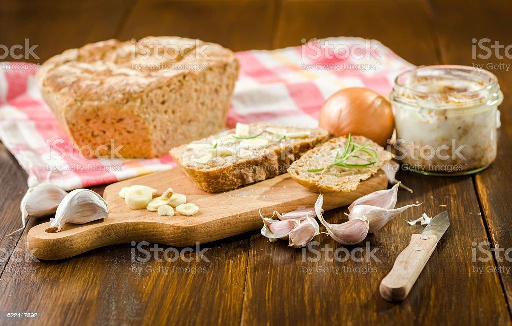 Garlic a natural antibiotic stock photo