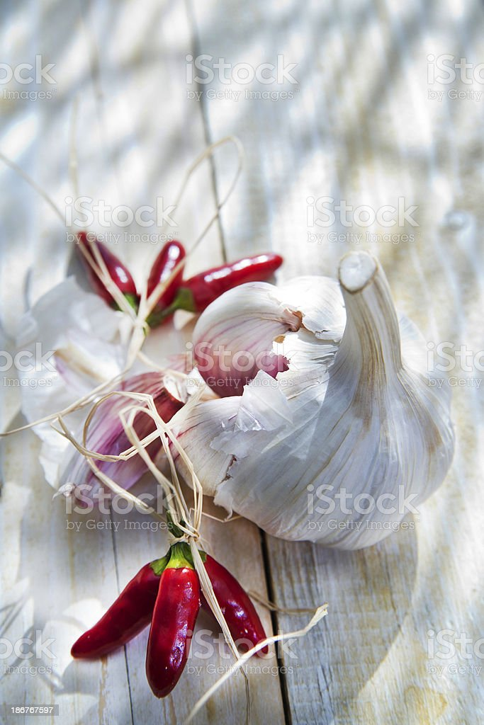 Garlic And Chili royalty-free stock photo