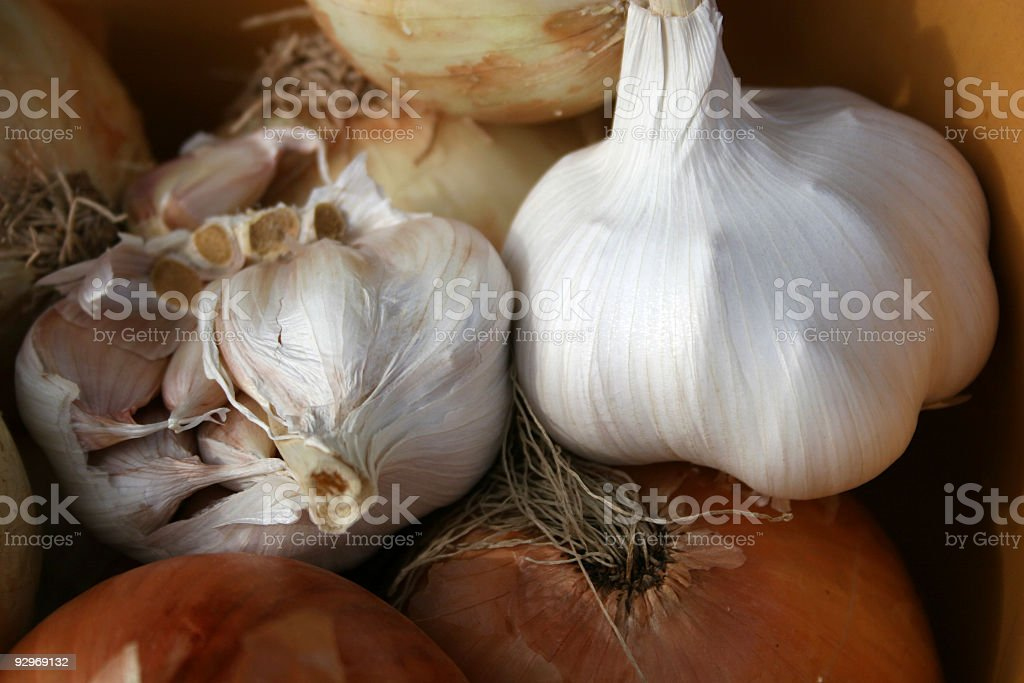 Garlic and Onions royalty-free stock photo
