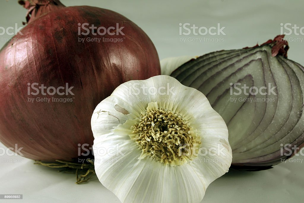Garlic and Red Onions royalty-free stock photo