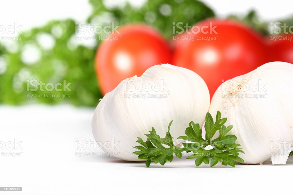 garlic and tomatoes royalty-free stock photo