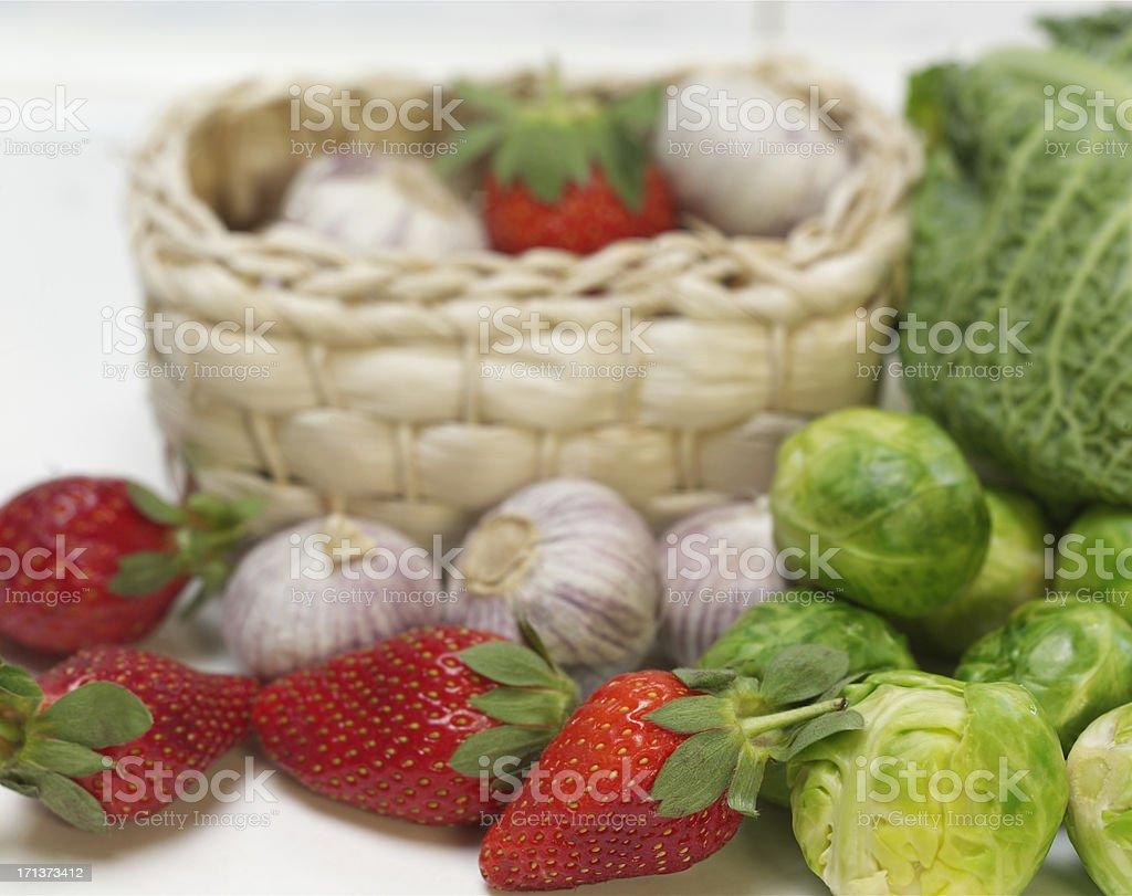 Garlic Basket royalty-free stock photo