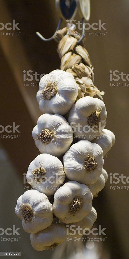 Garlic braid royalty-free stock photo
