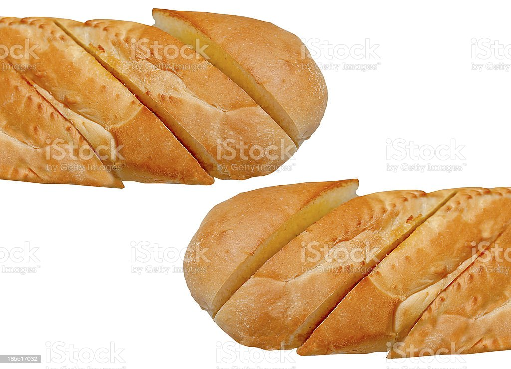 Garlic bread isolated on white background royalty-free stock photo