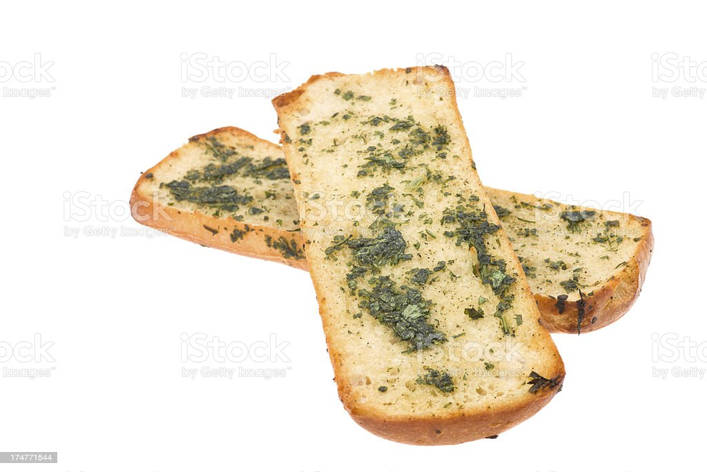Garlic bread on ciabatta royalty-free stock photo