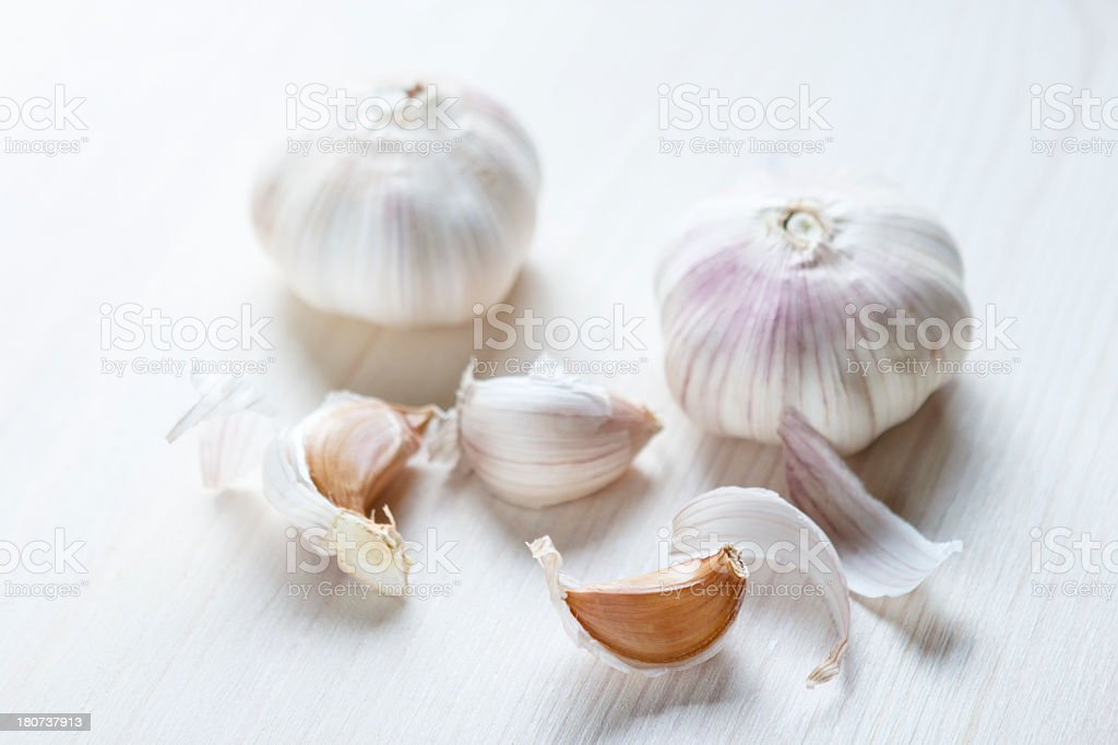 garlic bulb cloves royalty-free stock photo