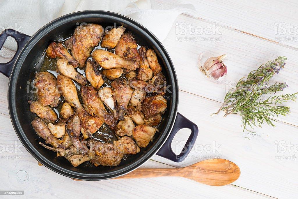 Garlic Chicken Spanish style stock photo