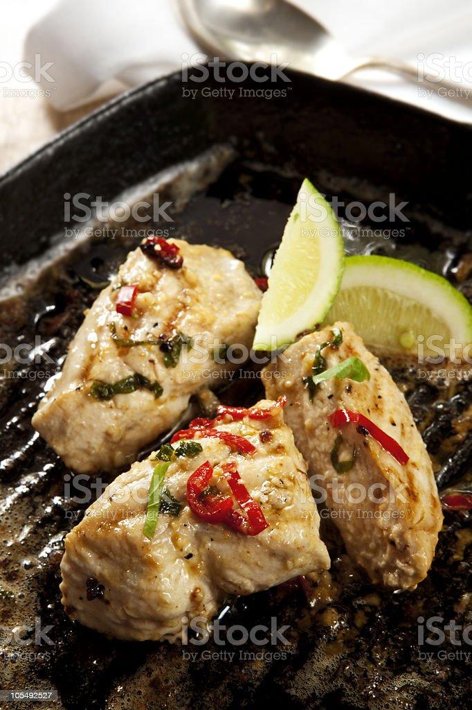Garlic Chili chicken stock photo