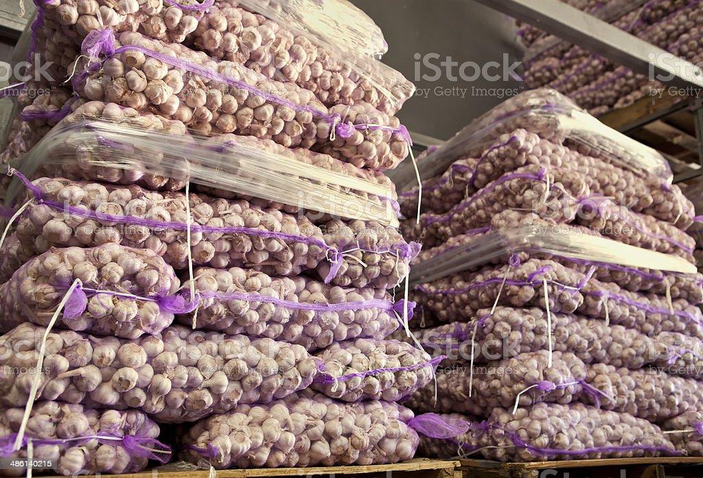Garlic deposit stock photo