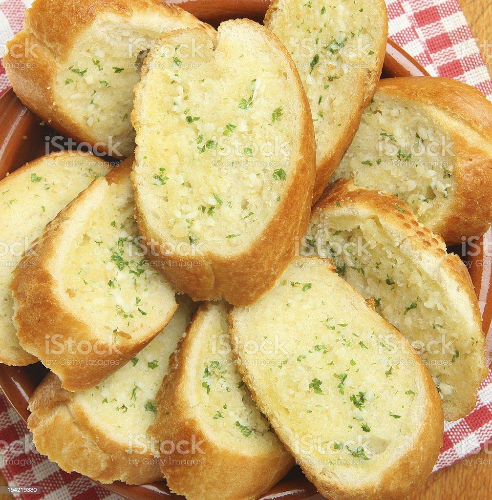 Garlic & Herb Bread stock photo