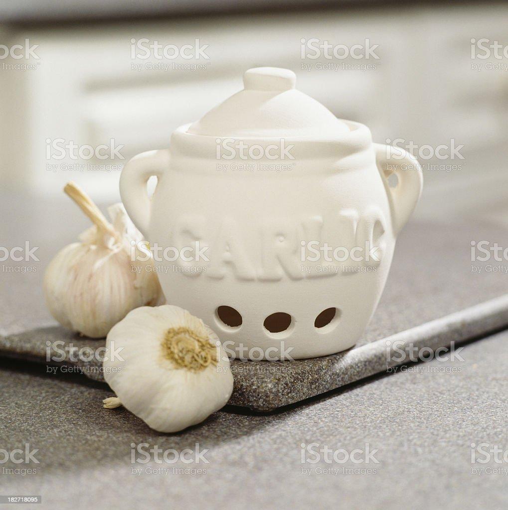 Garlic Keeper stock photo
