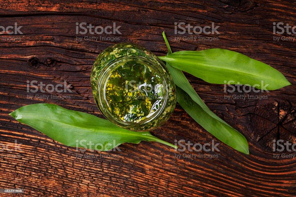 Garlic pesto. stock photo
