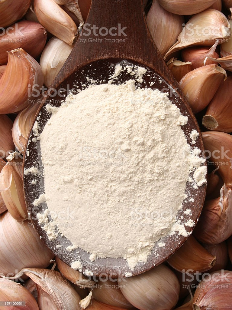 Garlic powder royalty-free stock photo