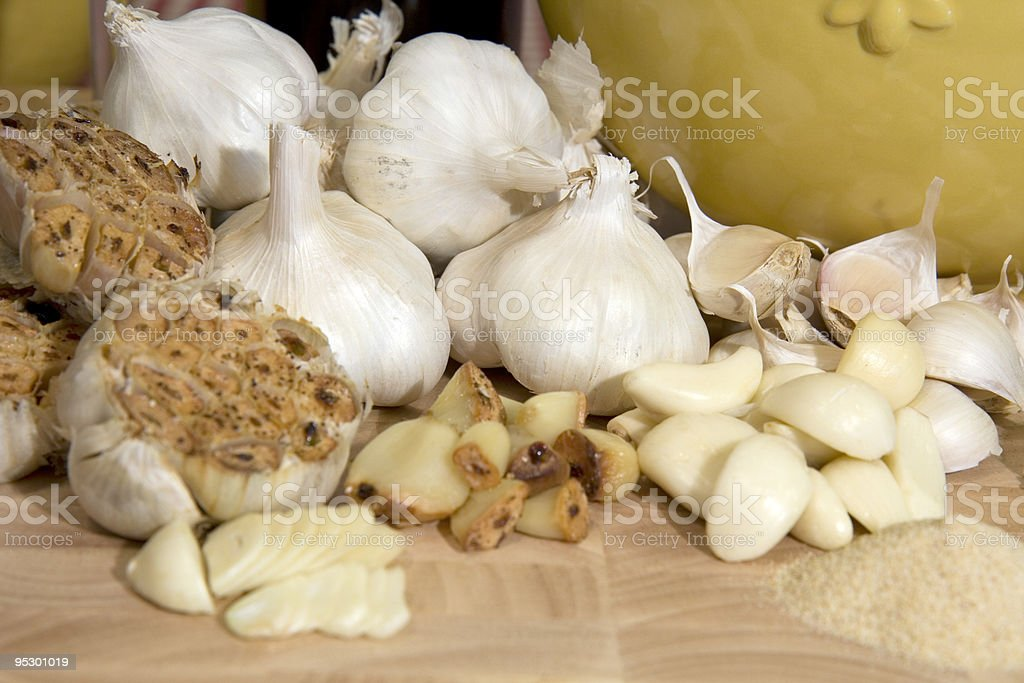 Garlic Scape stock photo