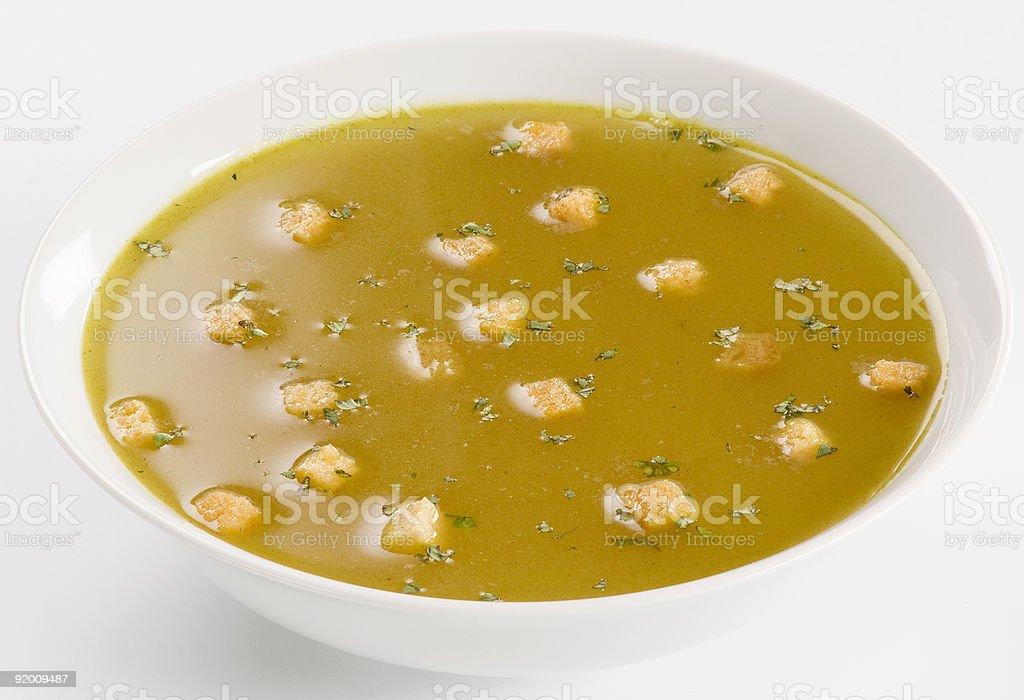 Чесночный суп с croutons Стоковые фото Стоковая фотография