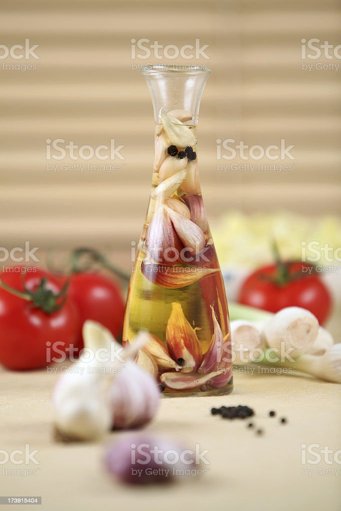 Garlic vinegar royalty-free stock photo