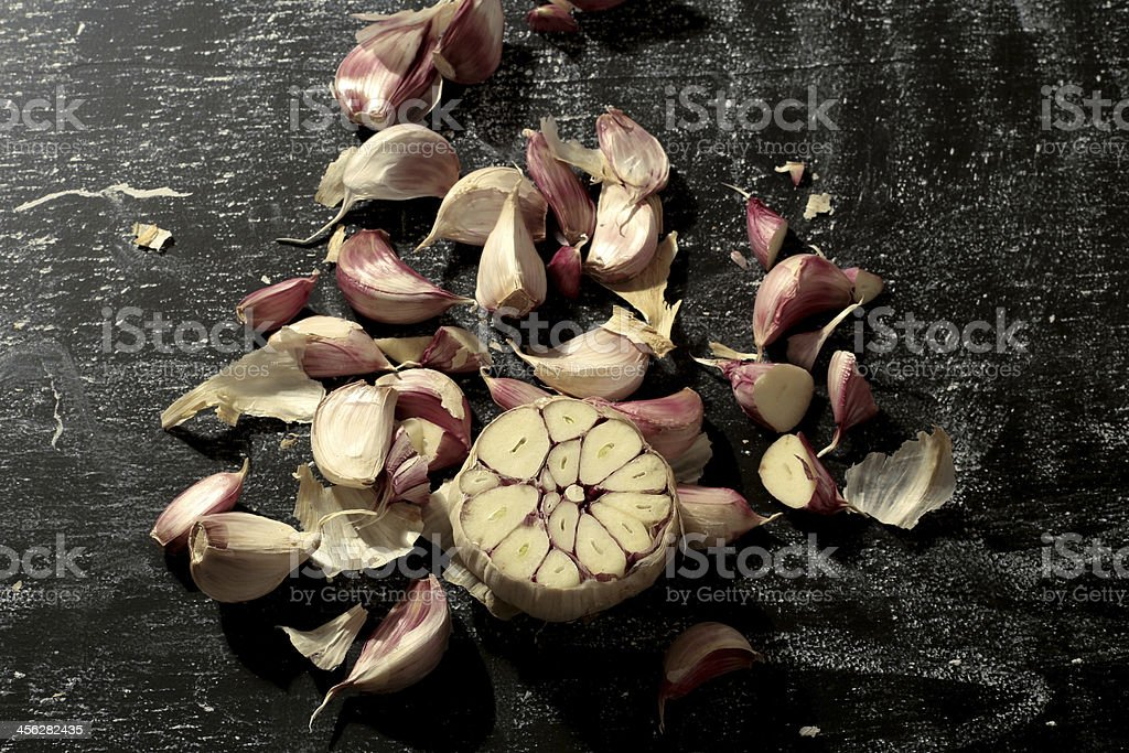 garlic - vintage style royalty-free stock photo
