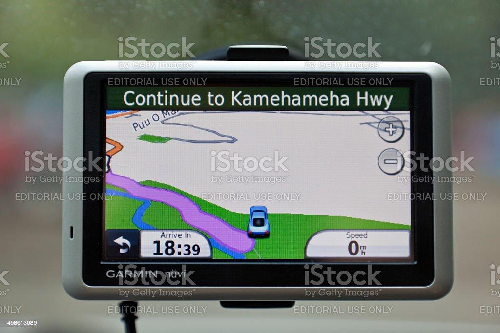 Garmin Nuvi GPS stock photo