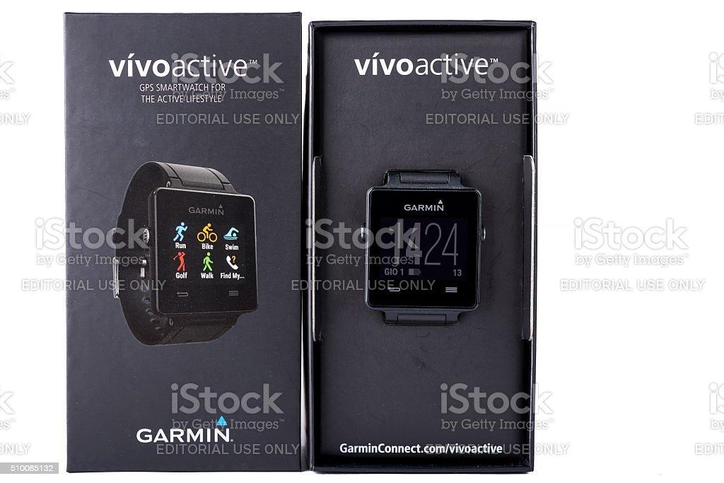 garmin vivoactive stock photo