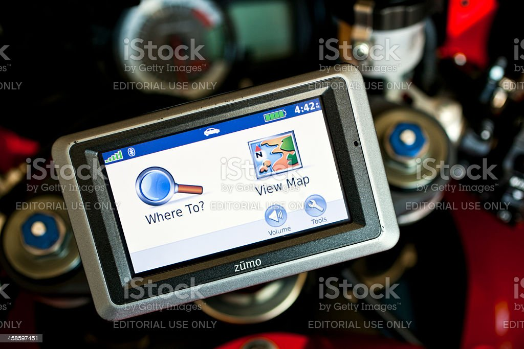 Garmin Zumo 660 GPS stock photo