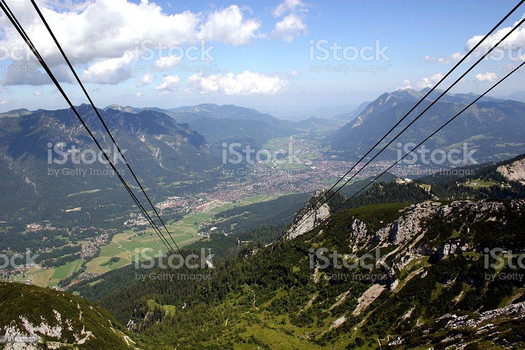 Garmisch-Partenkirchen von Alpspitzseilbahn / Osterfeldkopf royalty-free stock photo