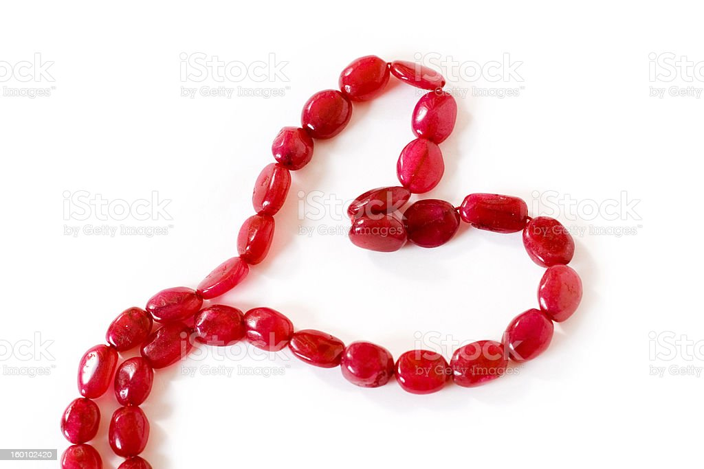 garnet heart royalty-free stock photo