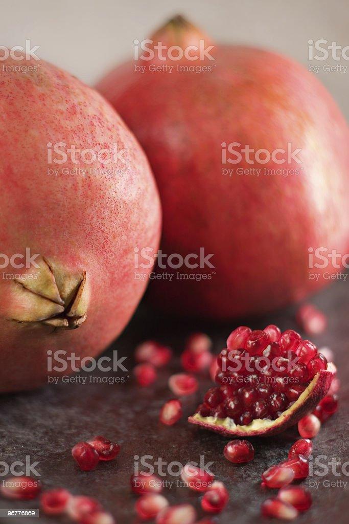 Garnet Pomegranate Fruit stock photo