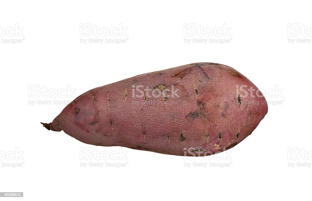 Garnet red yam isolated on white royalty-free stock photo
