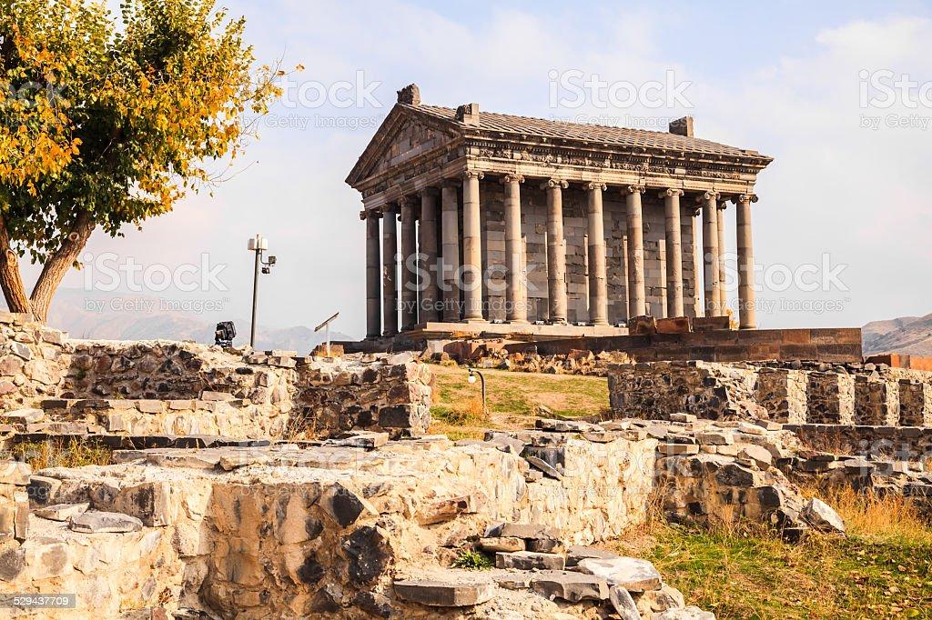 Garni Pagan Temple in Armenia stock photo