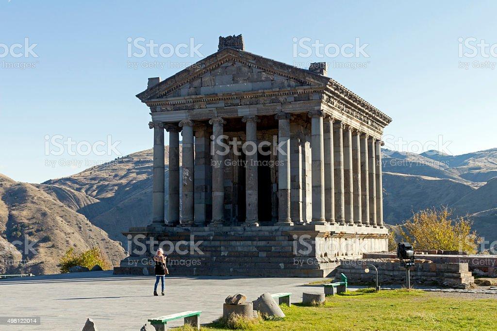 Garni Temple stock photo
