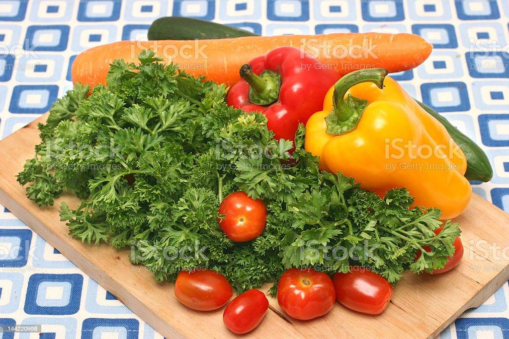 Garnishing vegetables royalty-free stock photo
