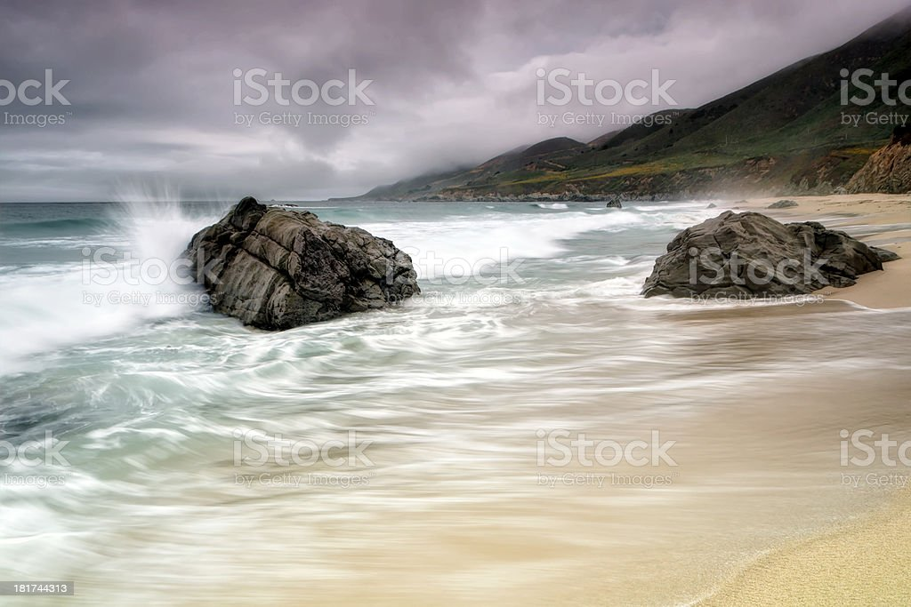 Garrapata Beach, CA stock photo