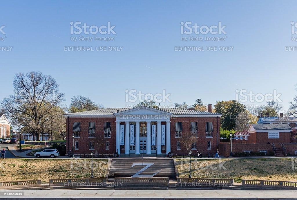 Garrett Hall at the University of Virginia stock photo