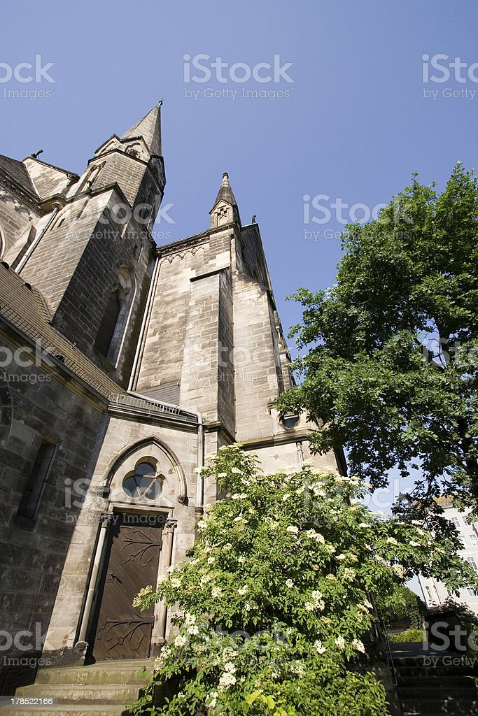 Garrison church from sandstone, again-gothical style 1897 sideview royalty-free stock photo