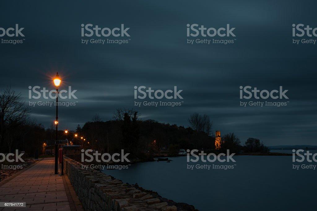 Garrykennedy new pier to old pier 4-12-2016 stock photo