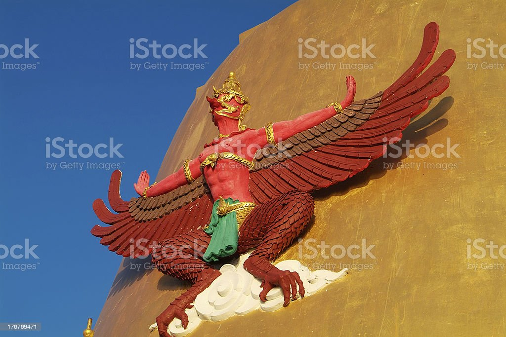 Garuda at temple in Thailand royalty-free stock photo